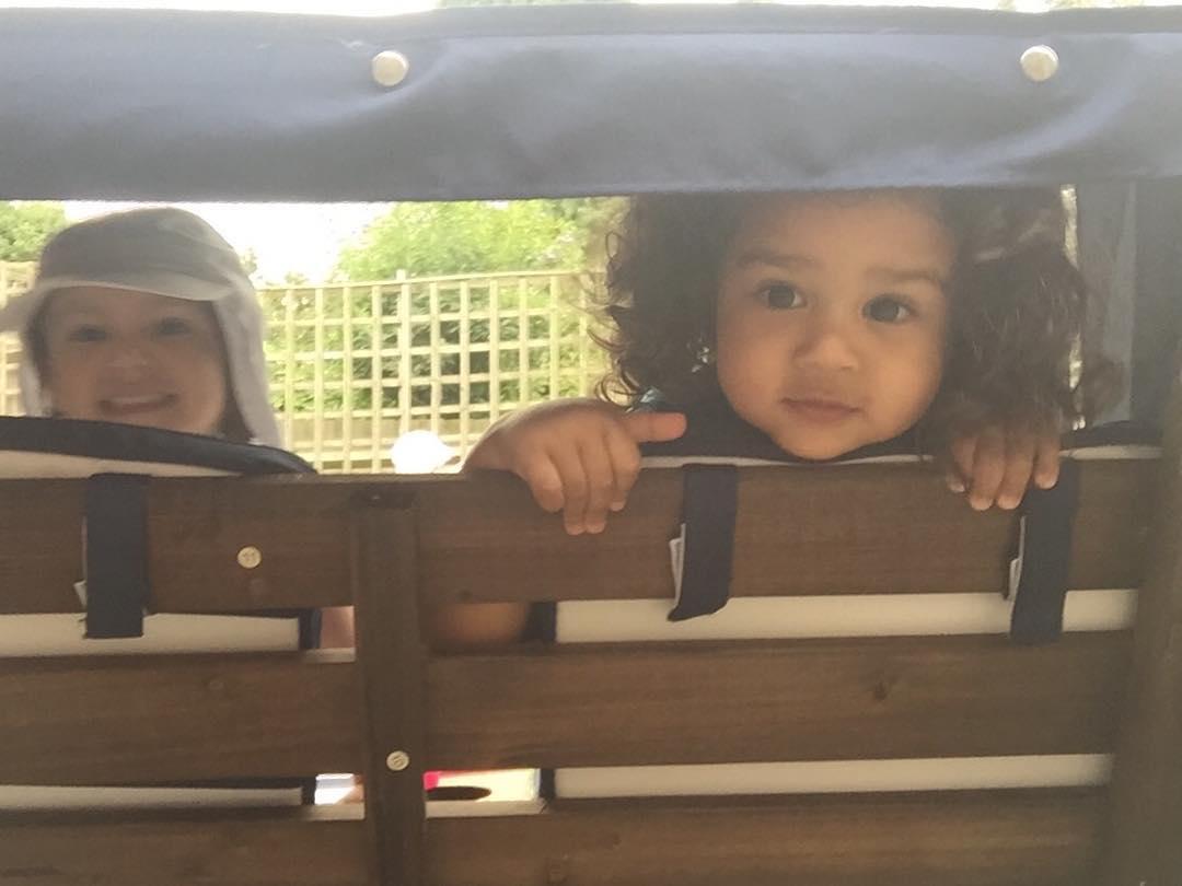 Peekaboo! curlsforthegirls bff toddlersofinstagram childhoodunplugged gorgeous love summer pbloggers mbloggershellip
