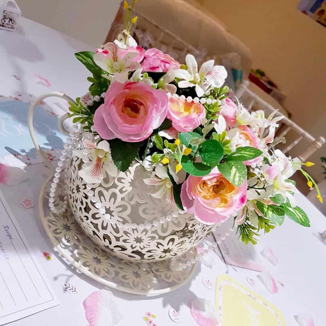Loved our teacup floral centrepieces  perfect for an afternoonhellip