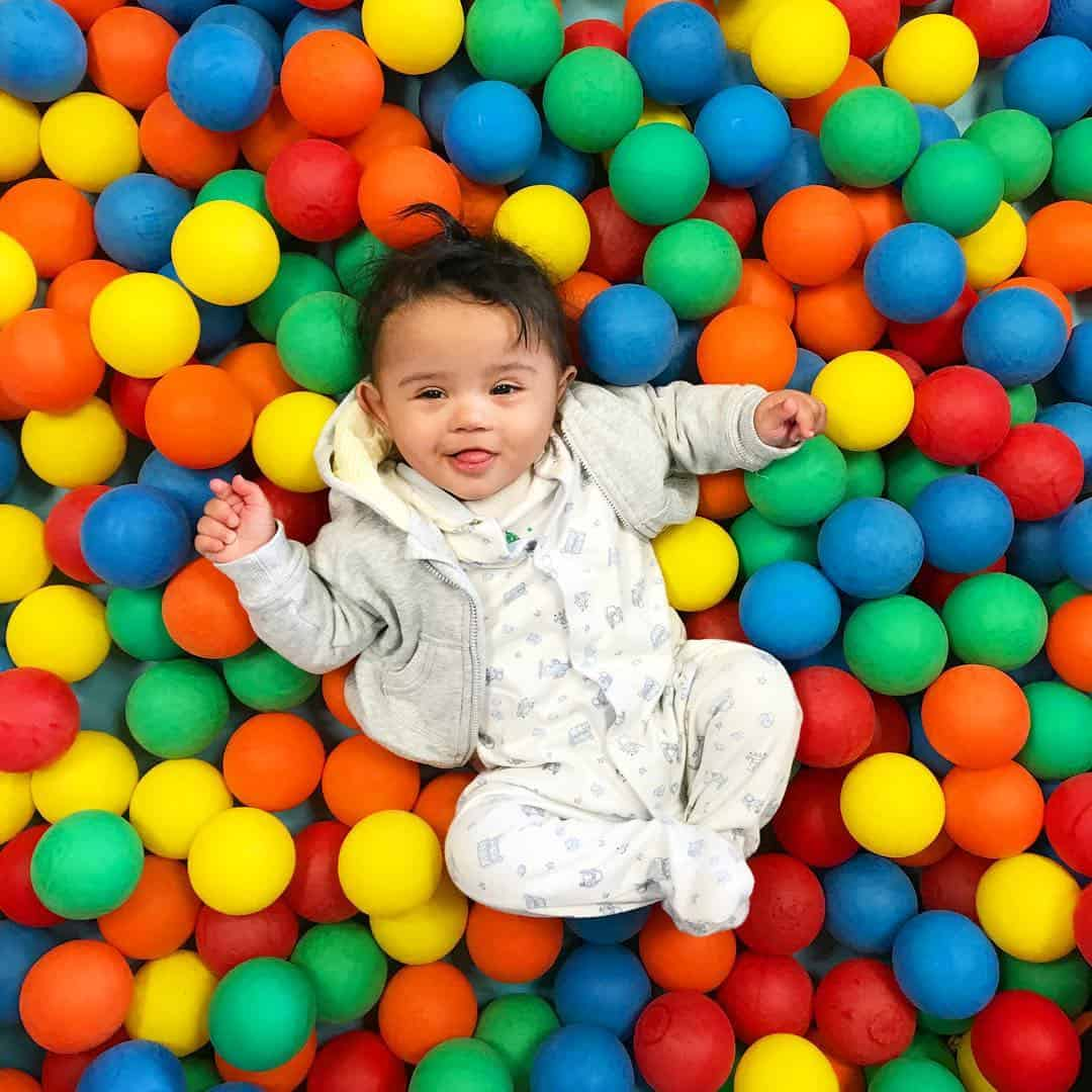 He loved his first time in a ball pool hellip